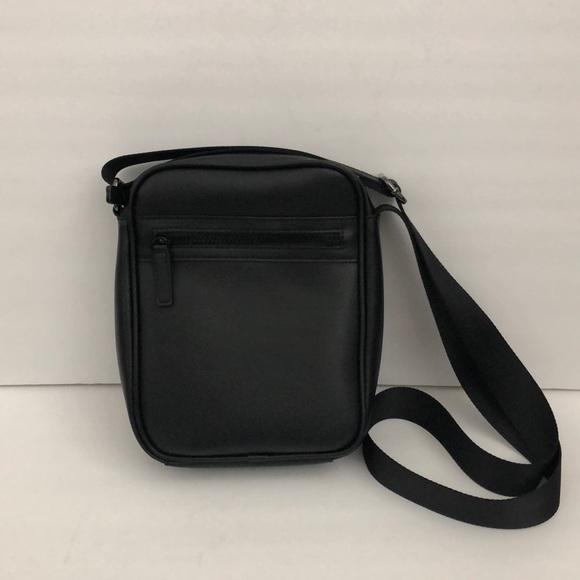 1e777c09 Zara men's unisex black messenger crossbody bag